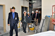 Mr. Devansky tours the future laboratory space.