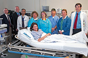 Interim VISN 4 Director Gary Devansky with Lebanon VA Operating Room staff.