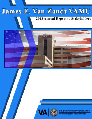 Cover of James E. Van Zandt VA Medical Center 2018 Annual Report