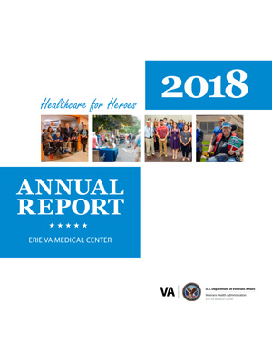 Cover of Erie VA Medical Center 2018 Annual Report