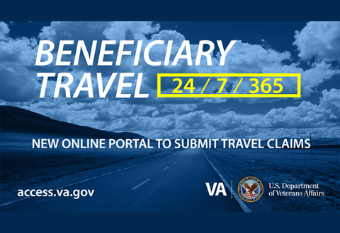 New online portal to submit travel claims.