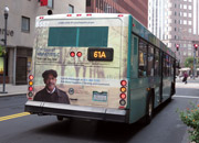 Advertisement for the Hepatitis C screening camapaign on the back of a Port Authority bus.