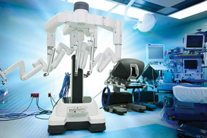 The da Vinci Xi robotic operating system.