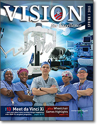 Cover of the current issue of Vision for Excellence.
