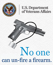 No one can un-fire a firearm. Image of a handgun with a cable lock.
