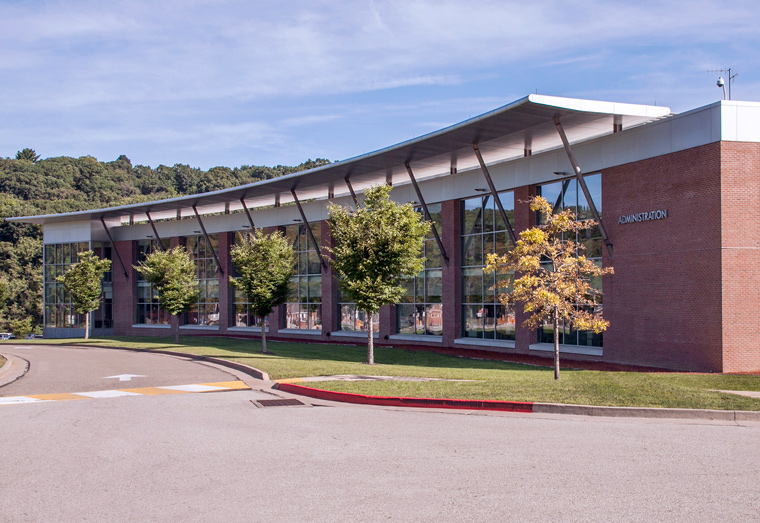 Exterior photo of the VA Healthcare-VISN 4 offices located on the H.J. Heinz campus of VA Pittsburgh Healthcare System.