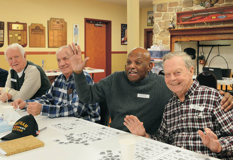 A group of Veterans playing Bingo.